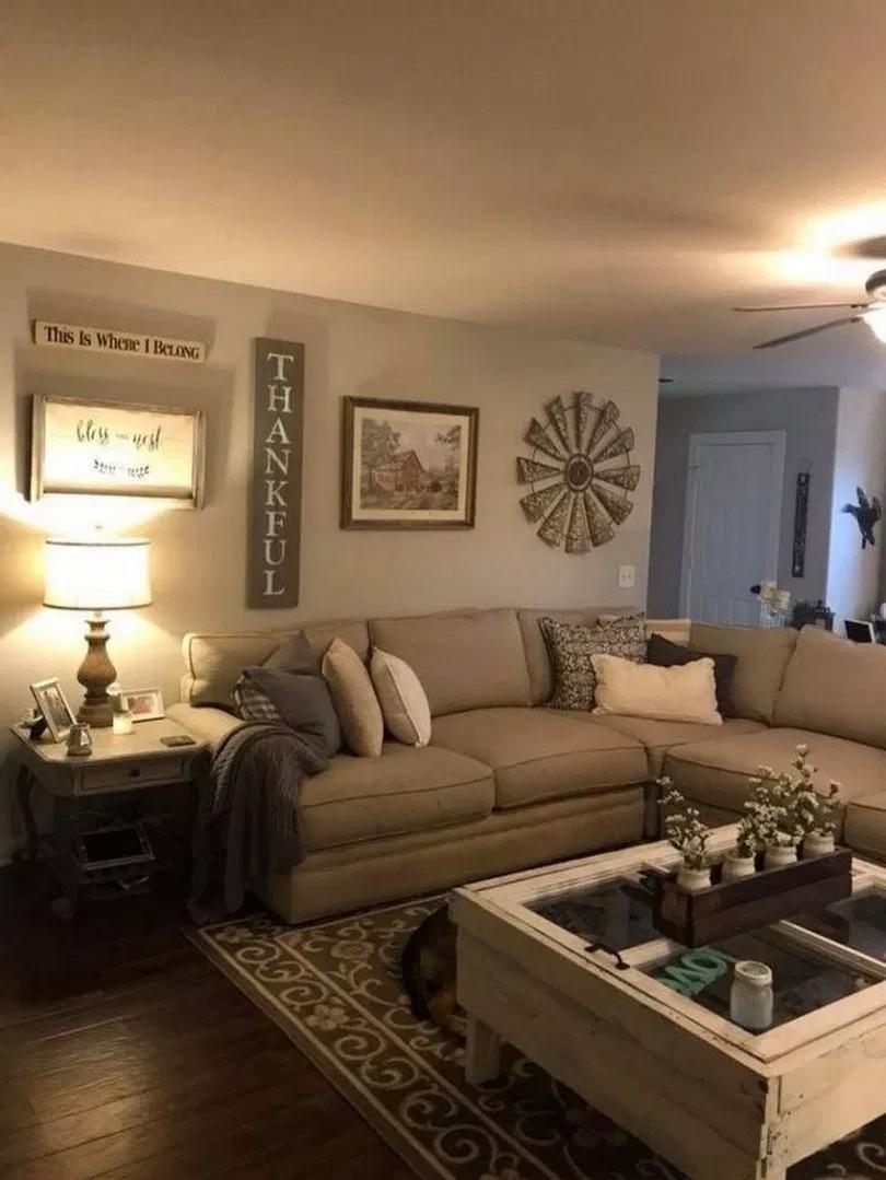 73 Best Farmhouse Living Room Tv Stand Design Ideas 20