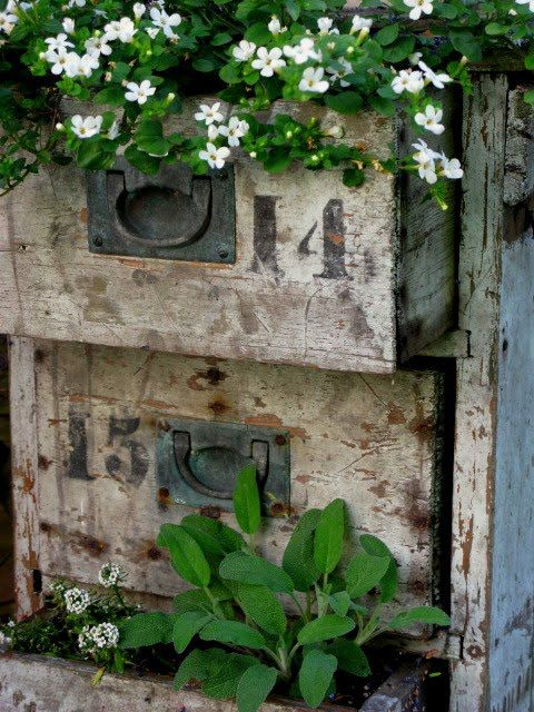 Pin By Nicole Miller On Vintage Numbers Garden Containers Garden Art Plants