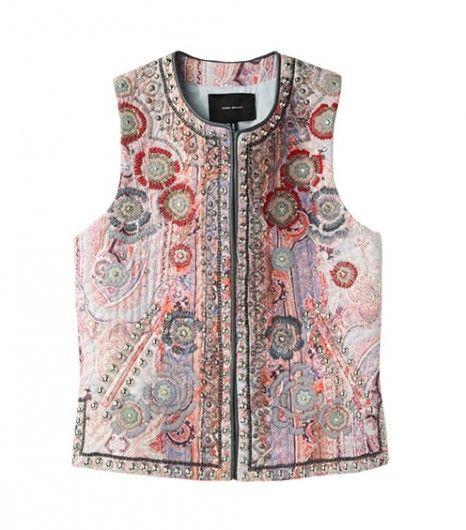 Isabel Marant    Jungle Paisley Embroidered Waistcoat