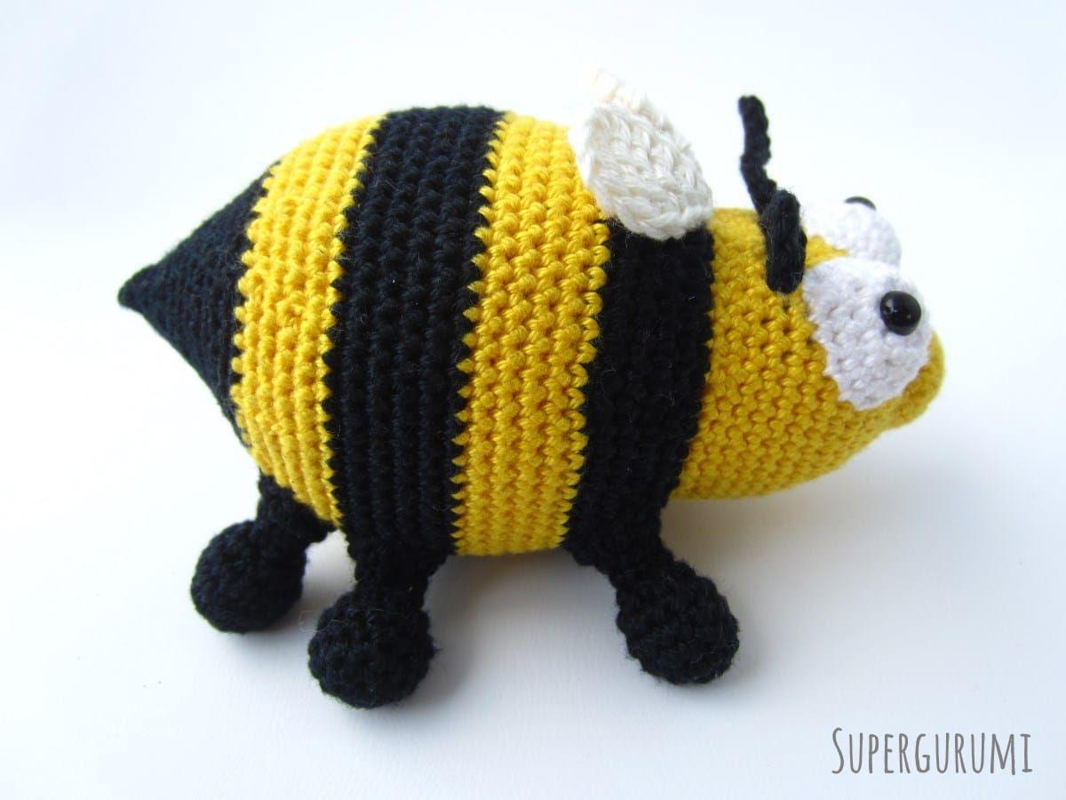Amigurumi Biene häkeln seitenansicht | Kinderkram | Pinterest ...