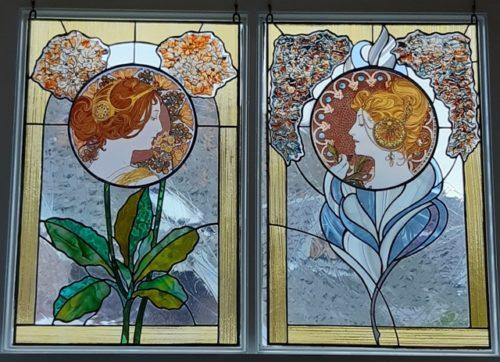 Glas In Lood Maison L Art Nouveau Kunst Ideeen Art Nouveau Glas In Lood