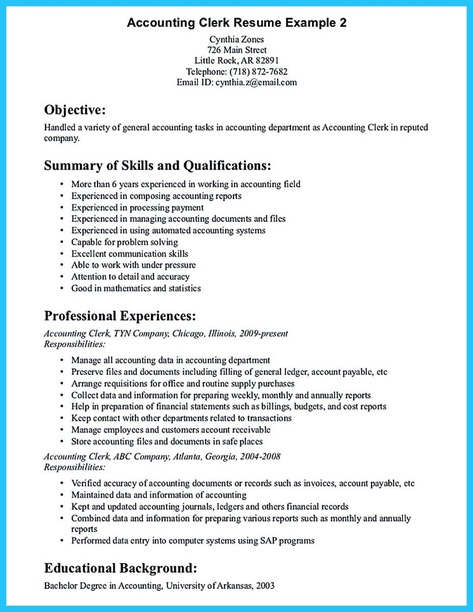 Accounting Clerk Resume Case Study Improving Purchase Order Process  Project Examples