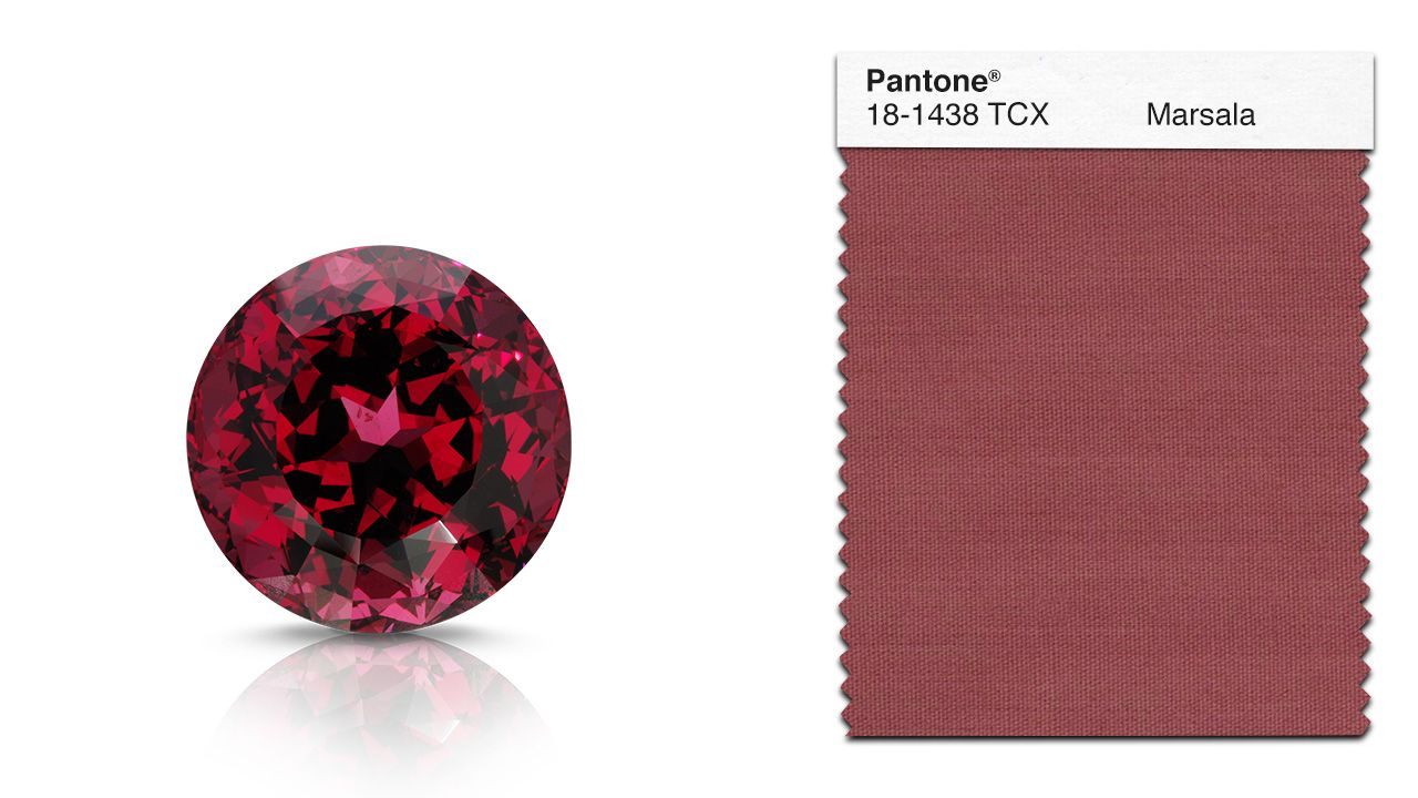 Garnets, like spinel, come in a spectrum of colors: greens, oranges ...