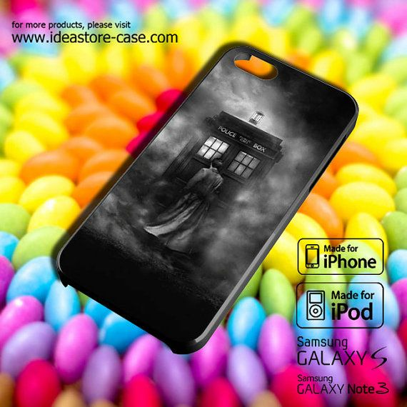 Tardis Doctor Who BW Case for iPhone by hamamerajarela on Etsy, $13.99
