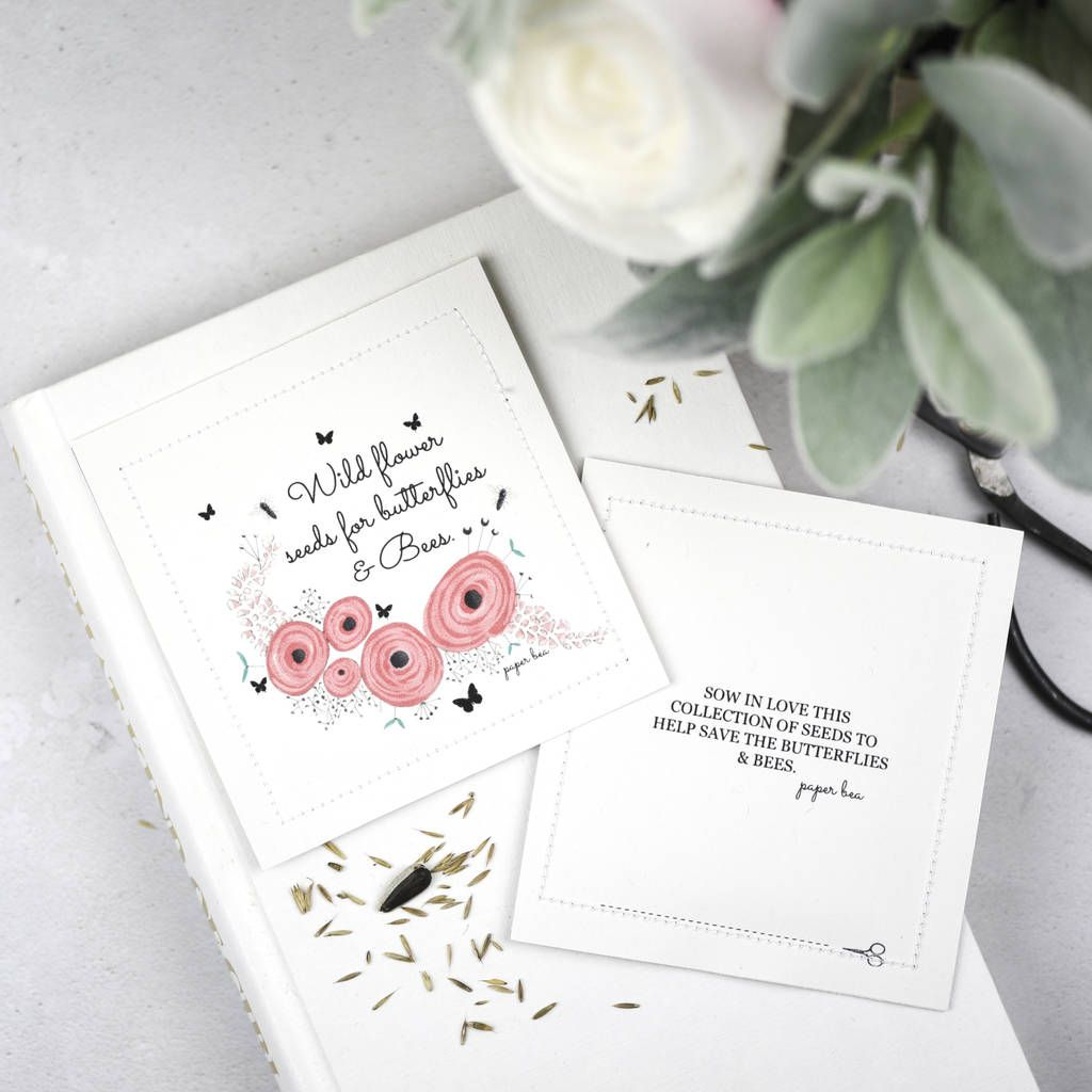 Wildflower Seed Packet Wedding Favours Peony Design | Seed packets ...