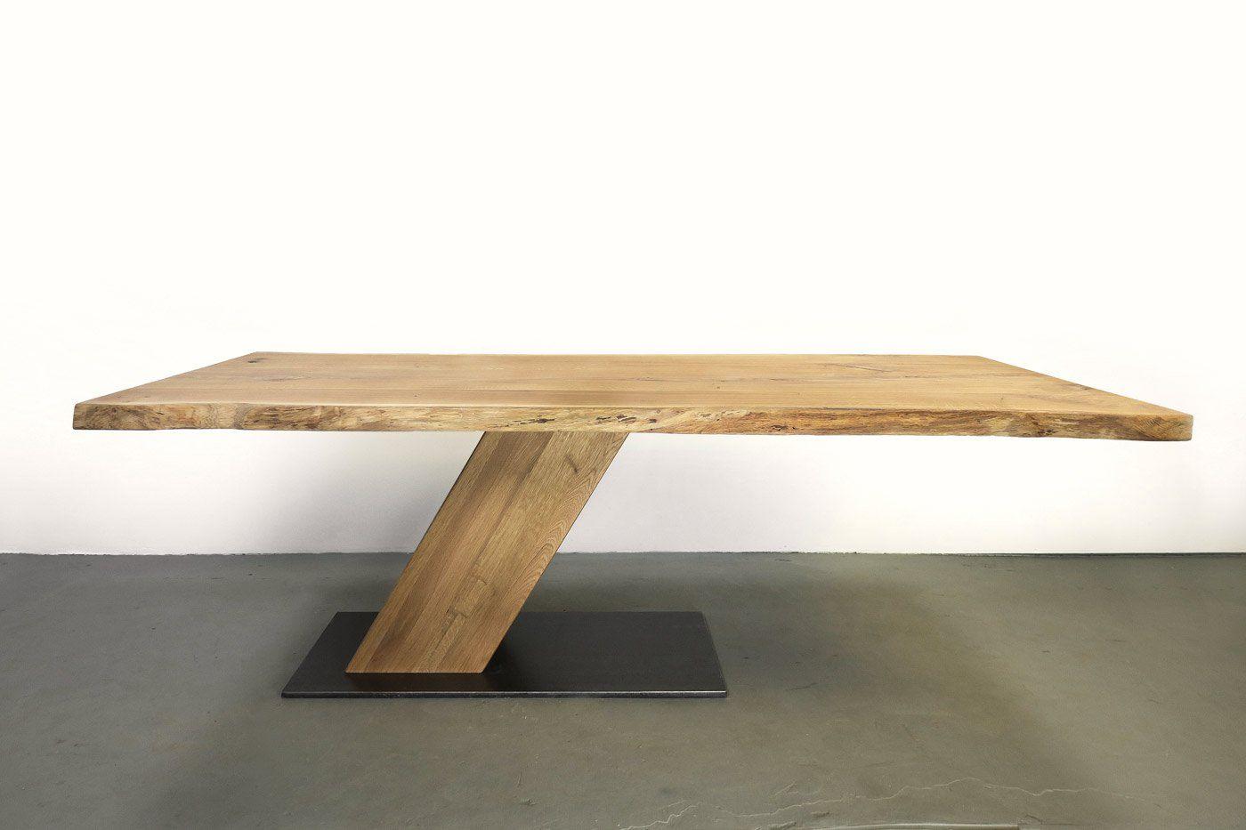 Moderner Mittelfuss Esstisch Auf Mass Nyborg Eiche Wohnsektion Holztisch Design Esstisch Massiv Tisch