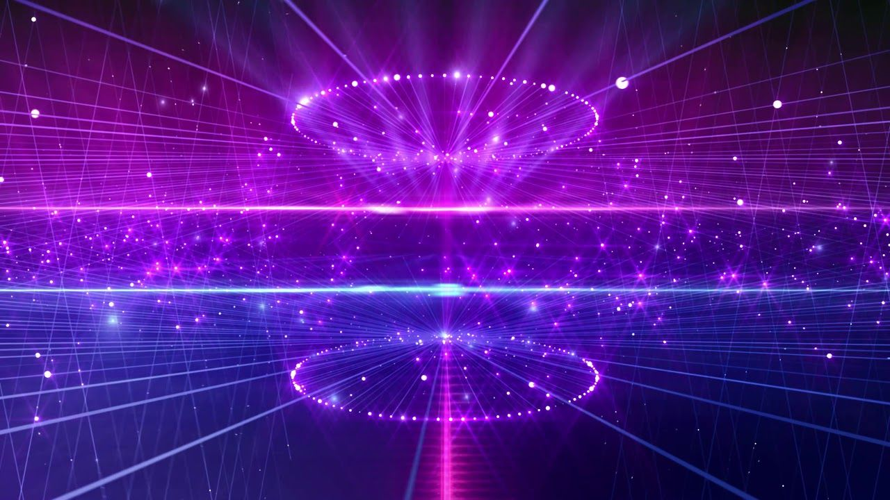 4K Purple Blue Stage Sparkling Moving Background