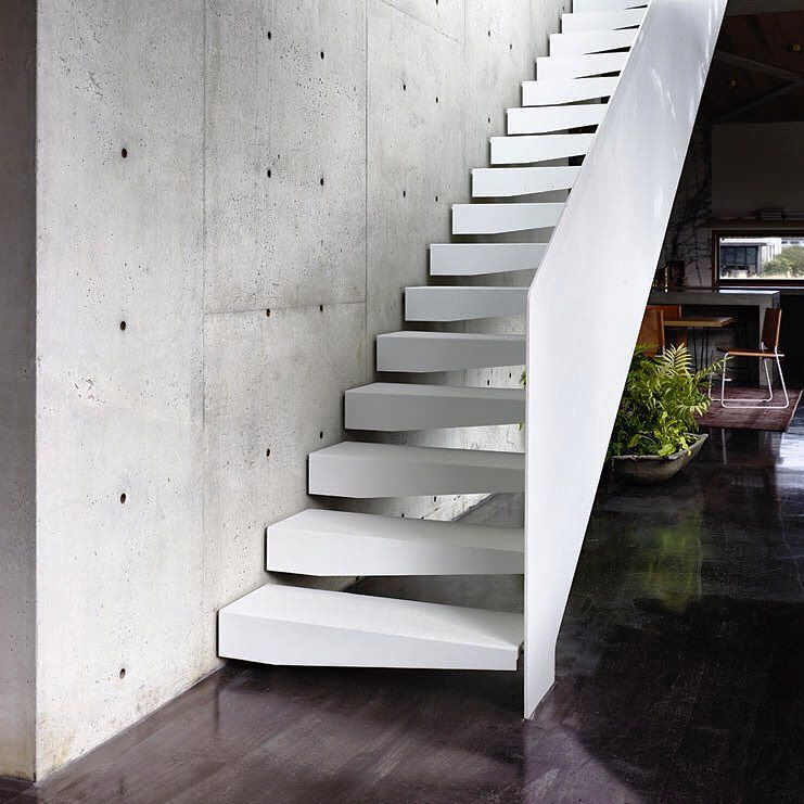 Best Folded Steel Stair At Our Torquayconcretehouse 400 x 300