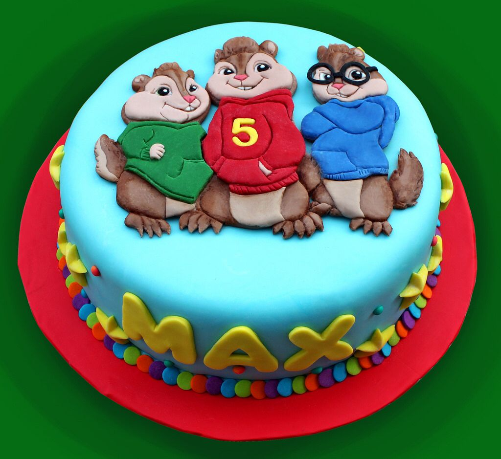 Amazing Alvin And The Chipmunks Mooie Taarten Taart Idee Funny Birthday Cards Online Sheoxdamsfinfo