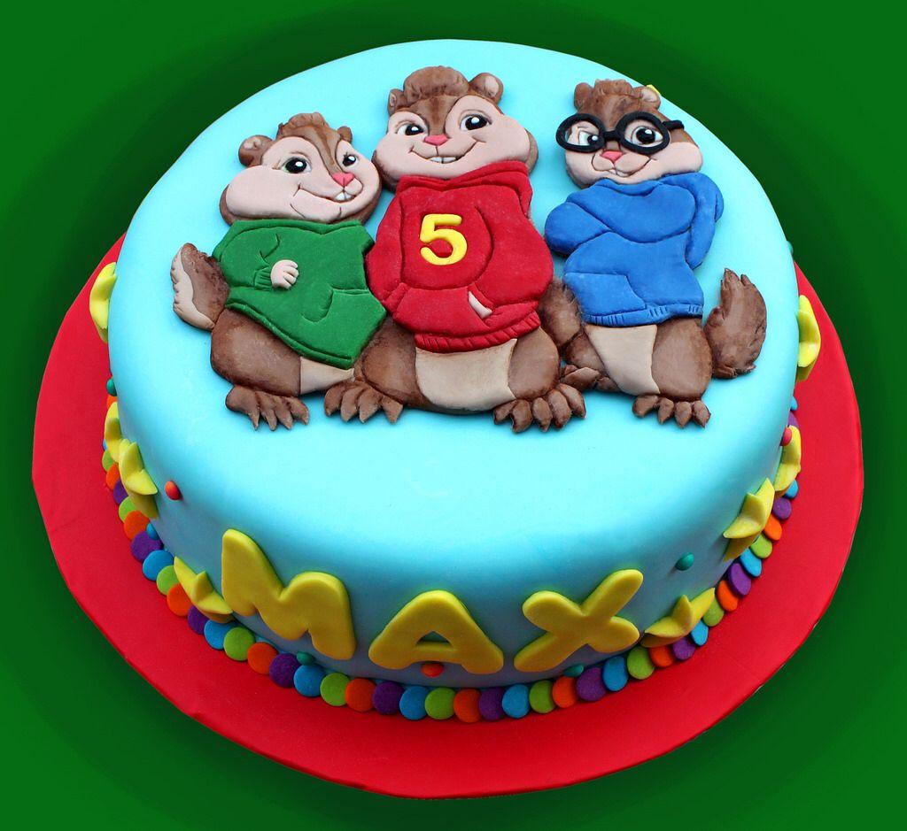 Terrific Alvin And The Chipmunks Mooie Taarten Taart Idee Funny Birthday Cards Online Alyptdamsfinfo