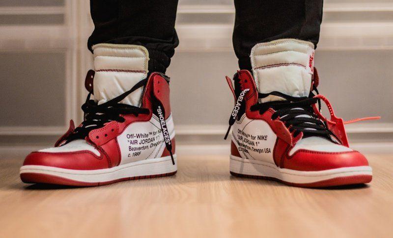 Off White X Nike Air Jordan 1 Chicago Review Sneakers Men