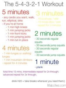easy at home workouts  15 minute workout exercise