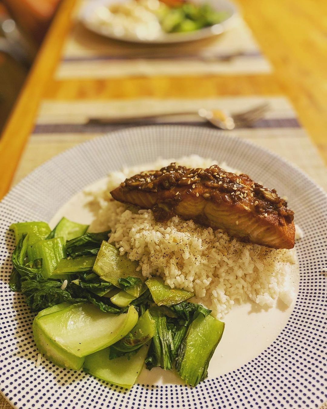WERE BACK! Starting the week with teriyaki salmon over rice and bok choy for ya boy!#newrecipe #fallrecipes #fitfoodie #healthymeals #easydinner #foodblogfeed #easydinners #easyrecipe #allrecipes #lentils #recipes #recipeshare #recipesbook #recipesharing #recipeswap #RecipesThatCrock #recipesforwomen #recipesuccess #RecipesVideos #teriyakisalmon WERE BACK! Starting the week with teriyaki salmon over rice and bok choy for ya boy!#newrecipe #fallrecipes #fitfoodie #healthymeals #easydinner #foodbl #teriyakisalmon