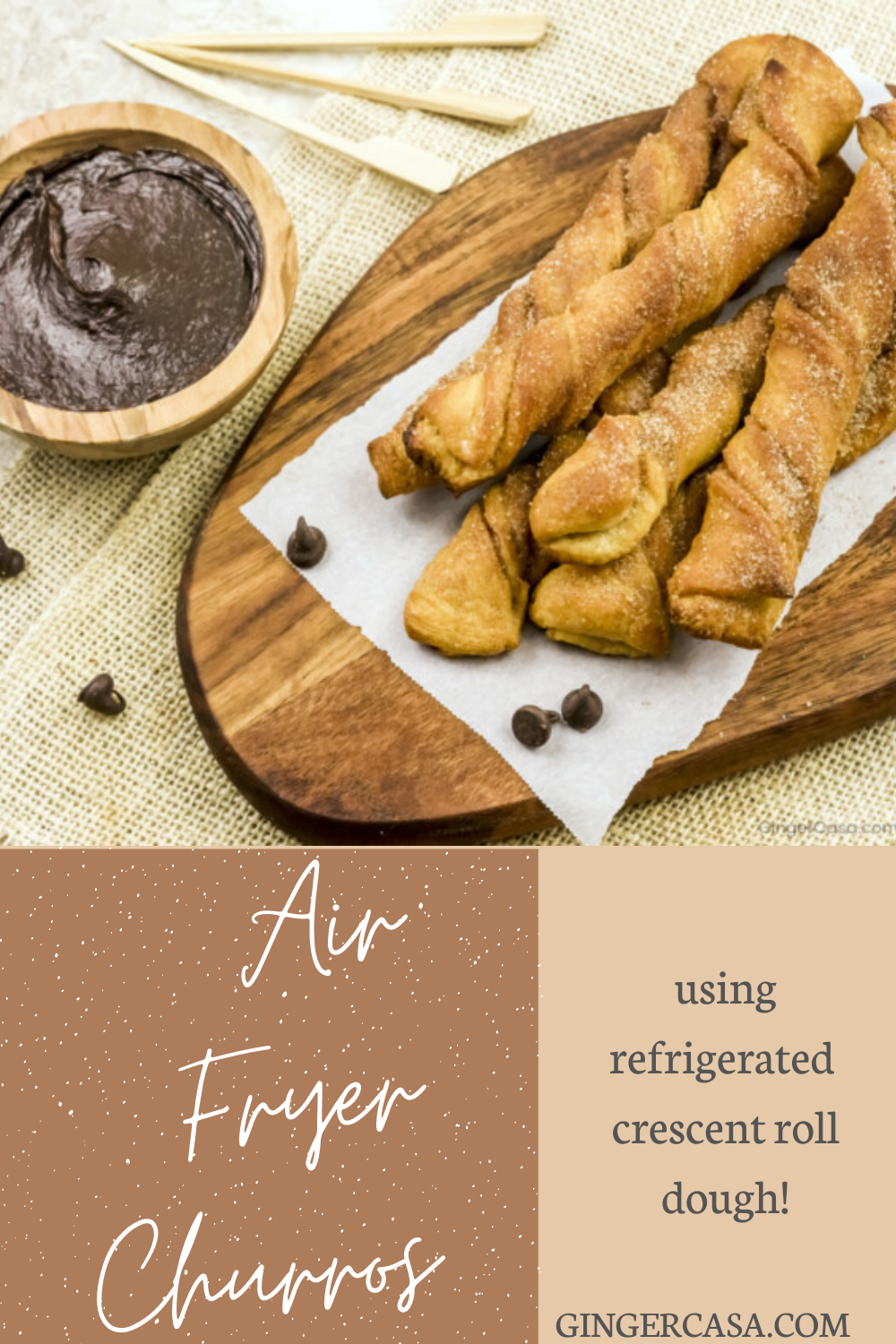These Air Fryer Churros are quick and easy to make and