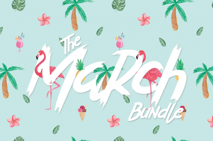 The March Bundle By TheHungryJPEG