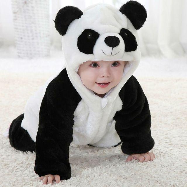 Envío libre 2015 nuevo Animal lindo Panda de una pieza larga de ...