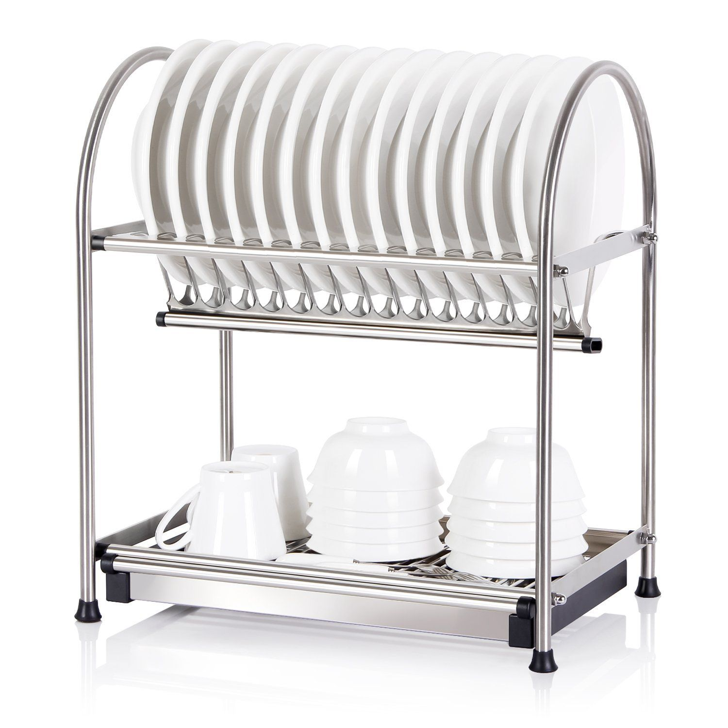 Lifewit Over The Sink 2 Tier Dish Drainer Drying Rack Holder, Kitchen Plate