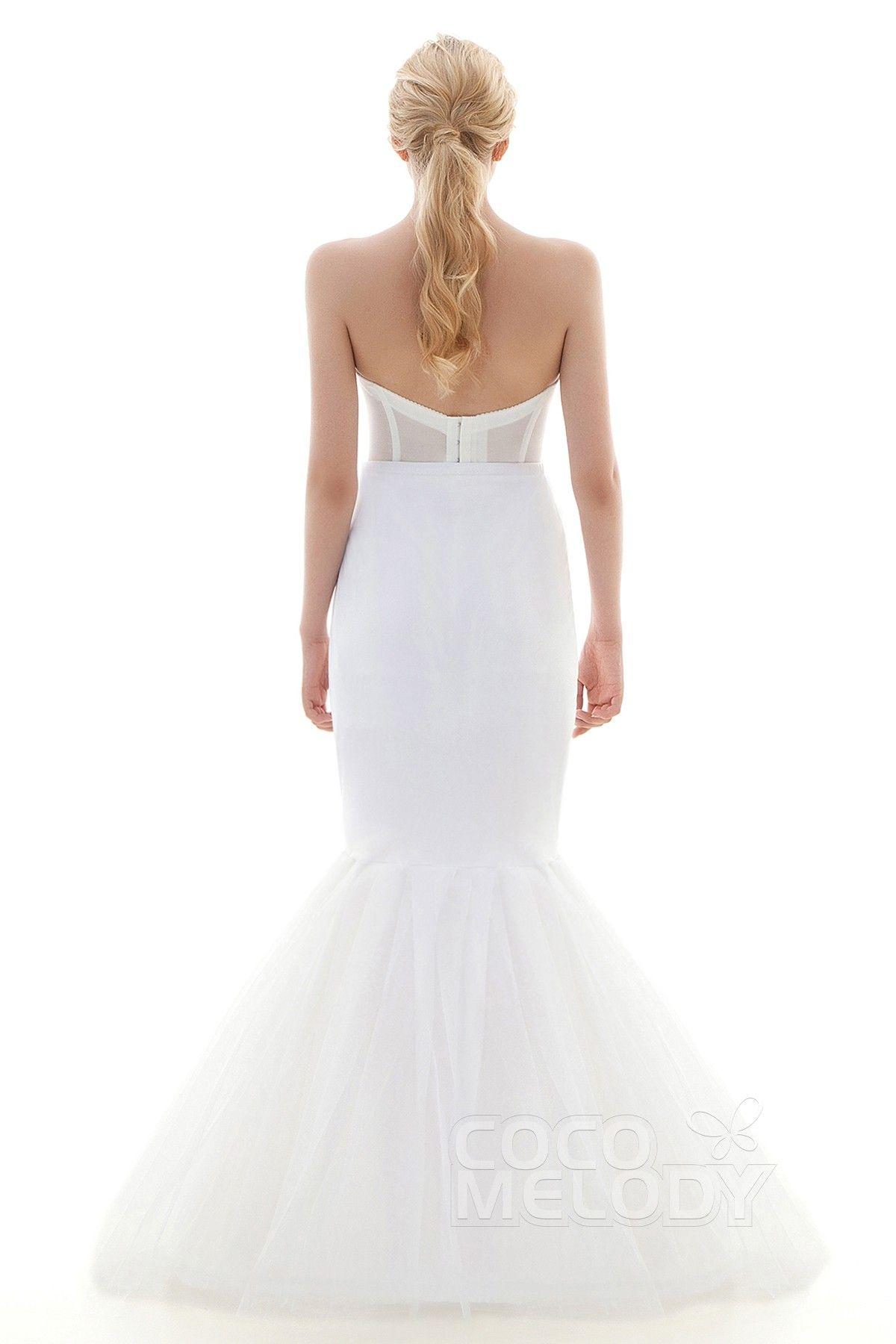 Wedding dress slip  TrumpetMermaid FloorLength Mermaid and Trumpet Gown Slip  Hoop