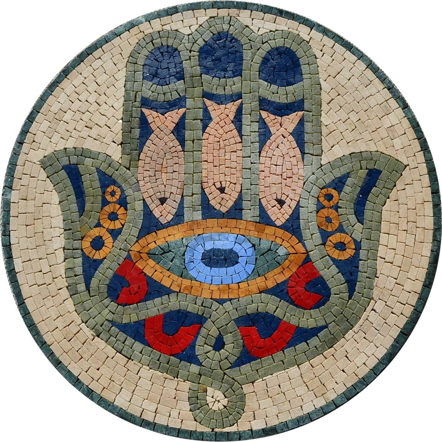 Hamsa hand jewish mosaic design marble mosaic middle fingers hamsa hand jewish mosaic design biocorpaavc