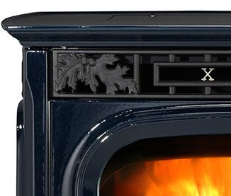 Harman Xxv Pellet Stove In Porcelain Dark Blue Finish Available At Higgins Energy Alternatives In Barre Ma Pellet Stove Stove Pellet