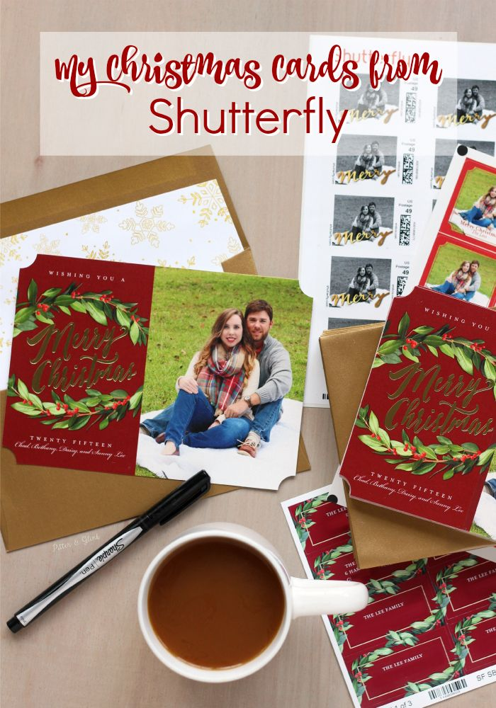PitterAndGlink: My Personalized Photo Christmas Cards from Shutterfly