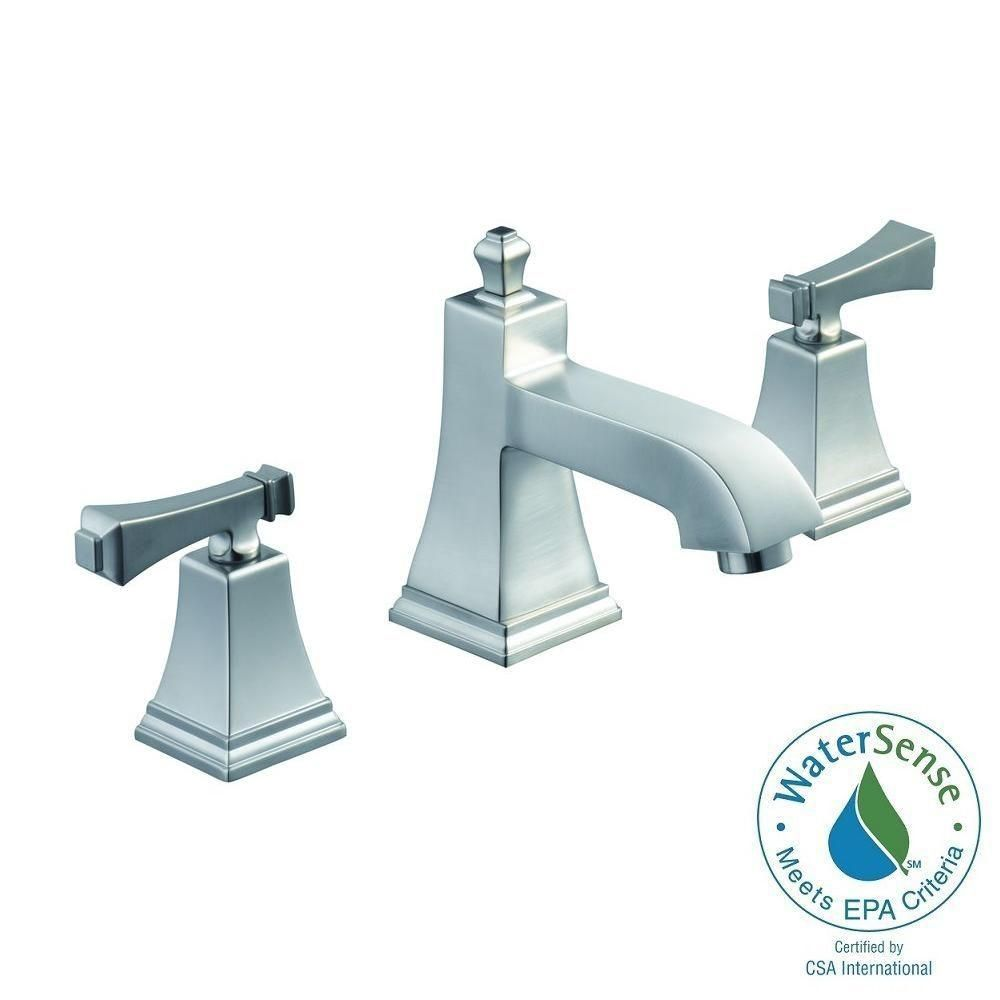 Merveilleux Pegasus Exhibit 8 In. Widespread 2 Handle High Arc Bathroom Faucet In  Brushed Nickel