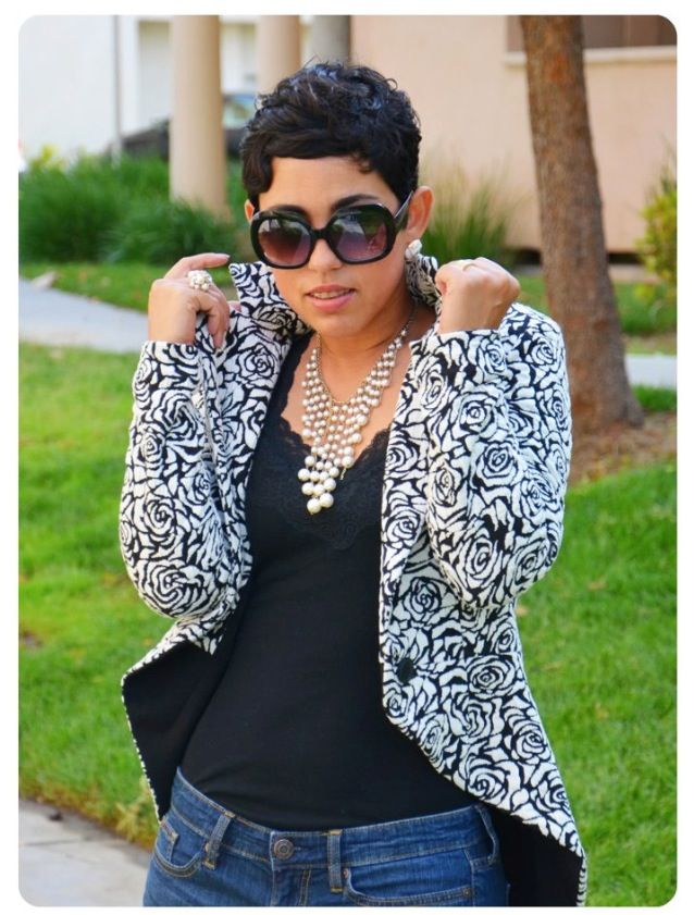 Fashion Lifestyle And Diy Diy Floral Riding Jacket Pattern Review V8601 Oop Cute Hairstyles For Short Hair Short Sassy Hair Chic Hairstyles