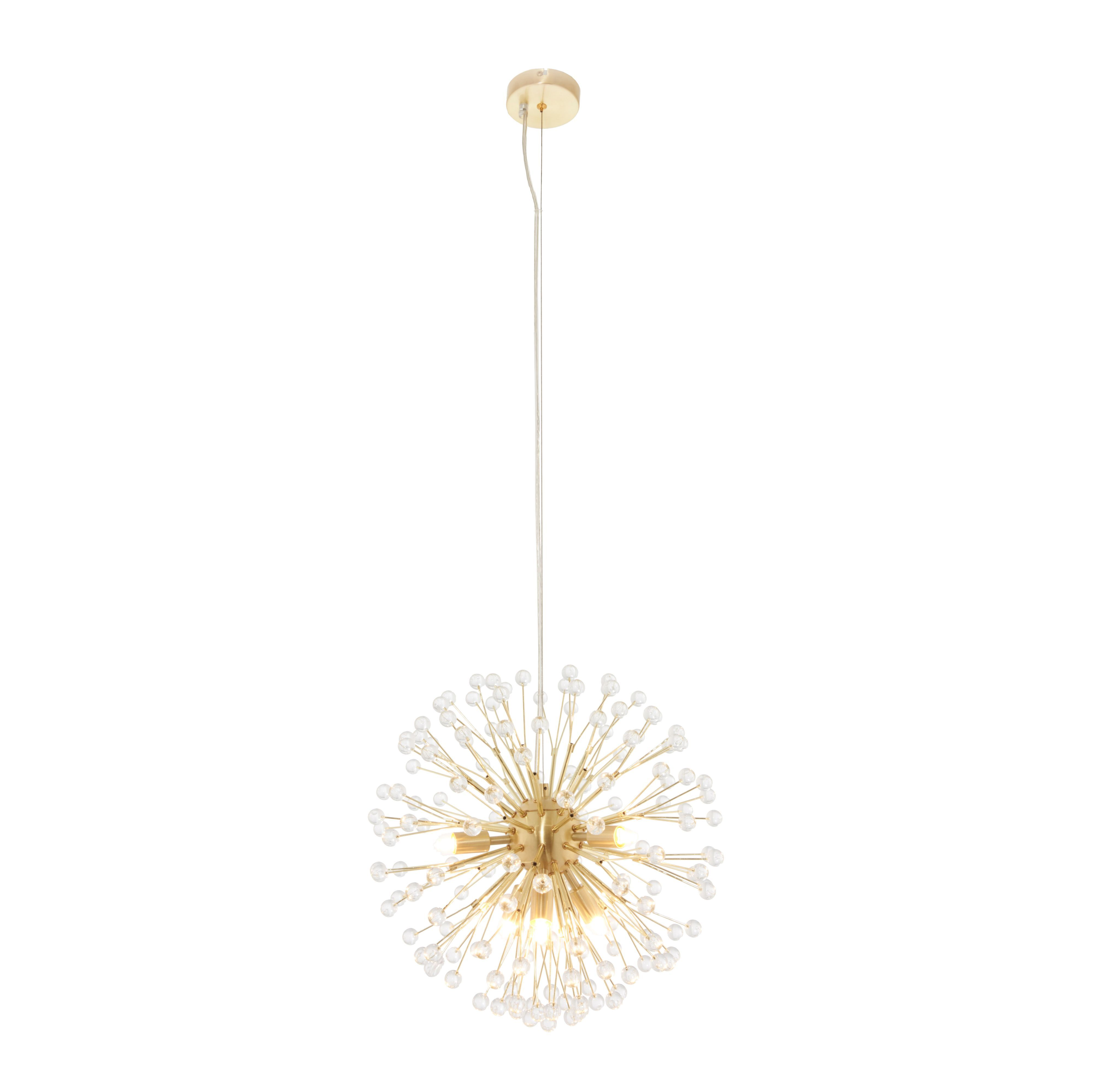 Toulouse Multi Arm Cluster Brushed Gold Effect 6 Lamp Pendant ...