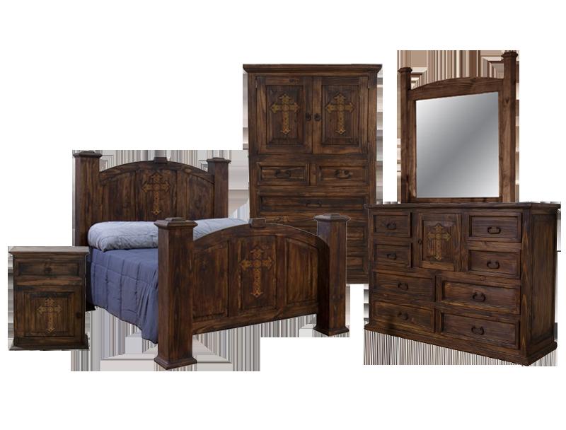 Rustic Mansion Cross Bedroom Group Dark Chubby S Mattress Mattresses And Furniture Corpus Christi Portland Rockport Alice Kingsville