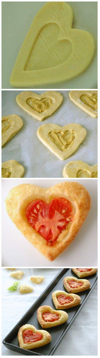 Lustiges Essen, Valentinstag, Kochen, Lustige Nahrung, Quiche, Herz,  Hauptsendezeit, Valentinstag, Valentines Recipes