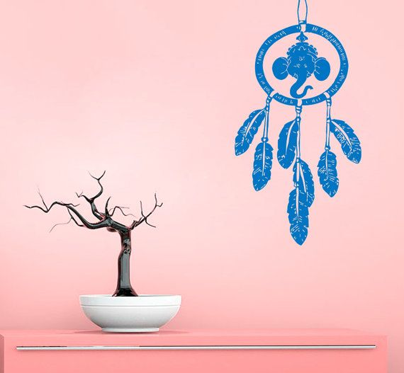 Elephant Wall Decal Dream Catcher Stickers Vinyl Decals Feathers ...