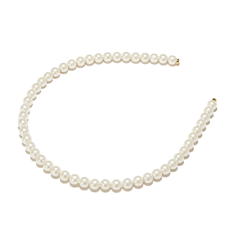 Ivory Pearl Strand Headband Lele Sadoughi Pearl Headband Pearl Strands Necklace Pearls