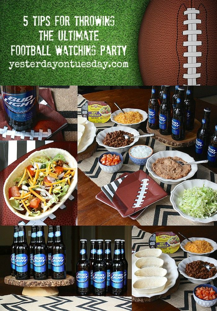 5 Tips for Throwing the Ultimate Football Watching Party, great party planning tips for the NFL playoff season.