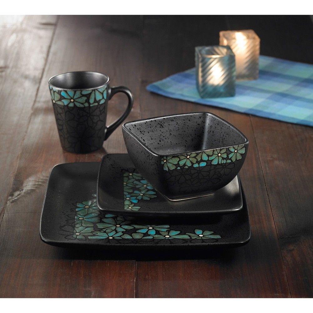 American Atelier Jasmine Blue 16-piece Dinnerware Set $70.99//. & American Atelier Jasmine Blue 16-piece Dinnerware Set $70.99http ...