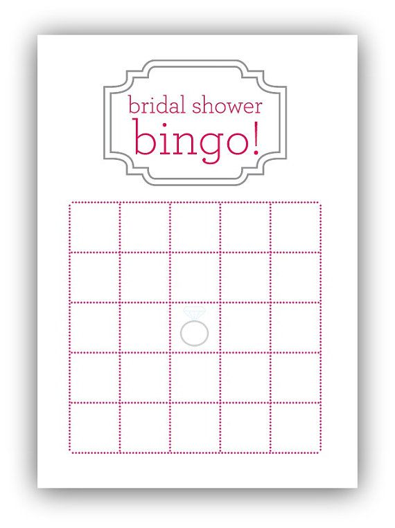 Bridal Shower Bingo Card By Gracefully Made Designs On Etsy