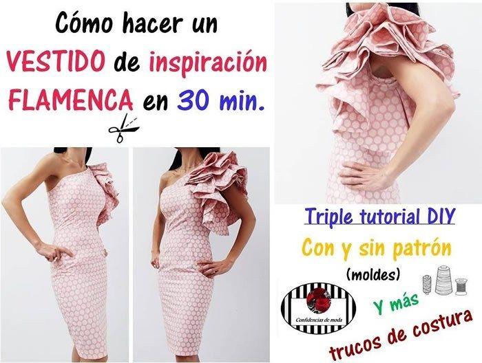 Vestido de inspiración flamenca en 30 min. | mda | Pinterest ...