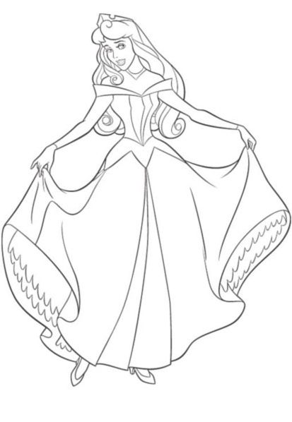 Coloriage Princesse Belle colorier