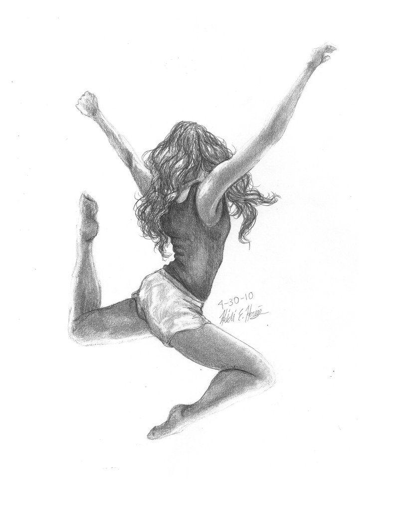 танцующий человек картинки карандашом работы ведутся имеющимся