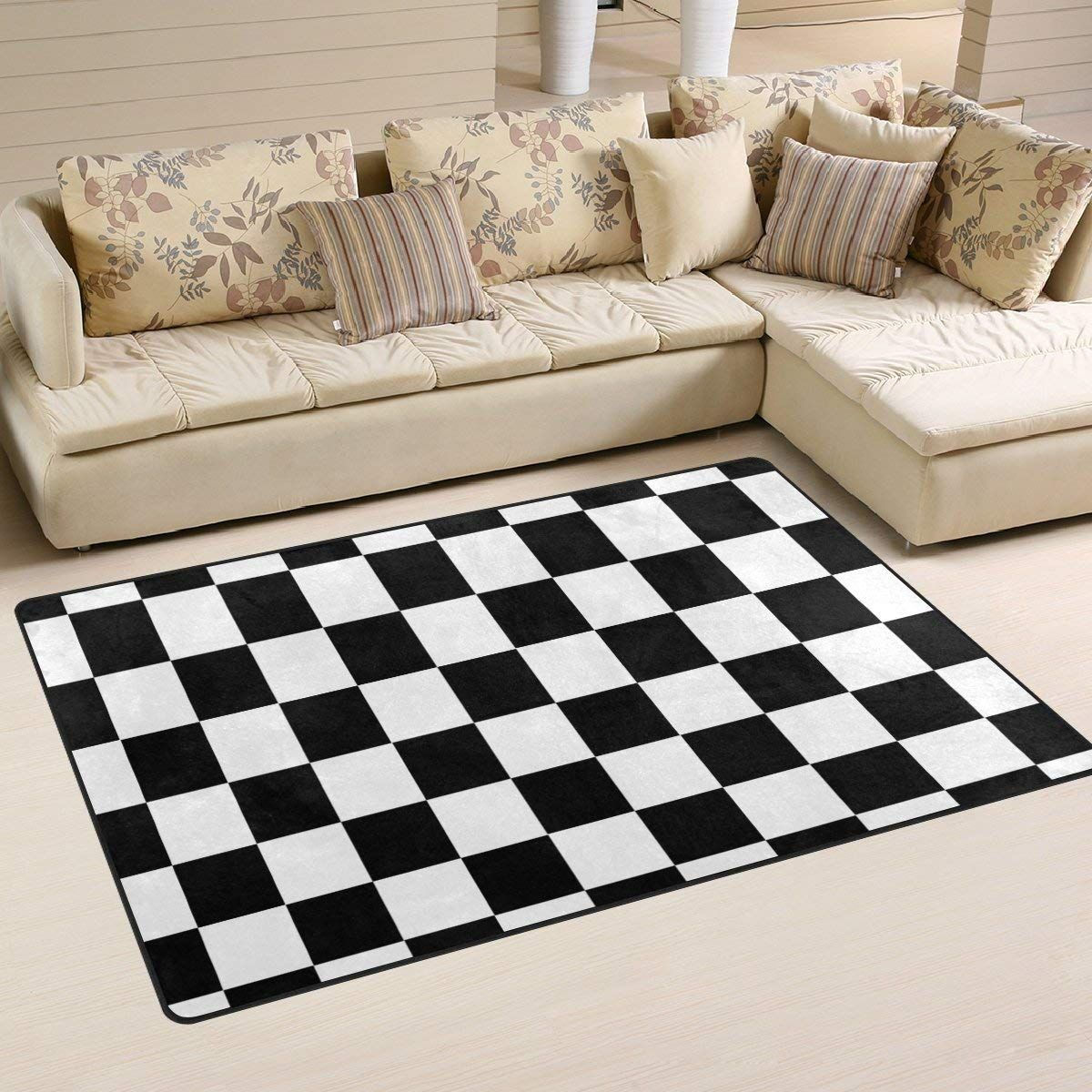 Checkered rug rugs on carpet area rugs area rug pad