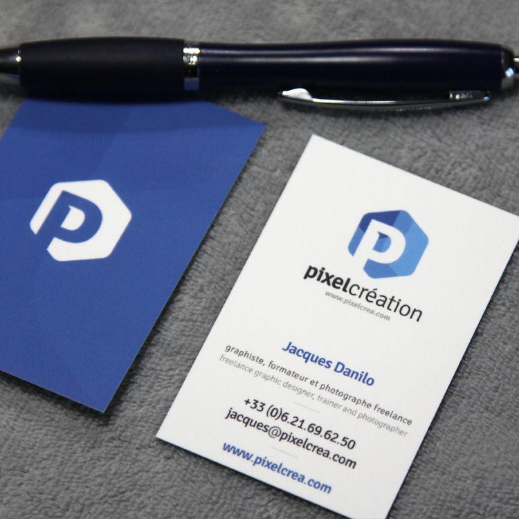 Carte De Visites Pour Un Infographiste Freelance Impression Business Design Cards Logo