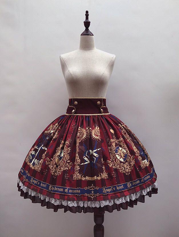 Angel's Heart -The Dream of Arcana- Lolita High Waist Skirt