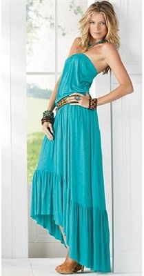 af684650e0b Elan International Strapless Hi-Lo Maxi Dress in Jade on shopstyle ...