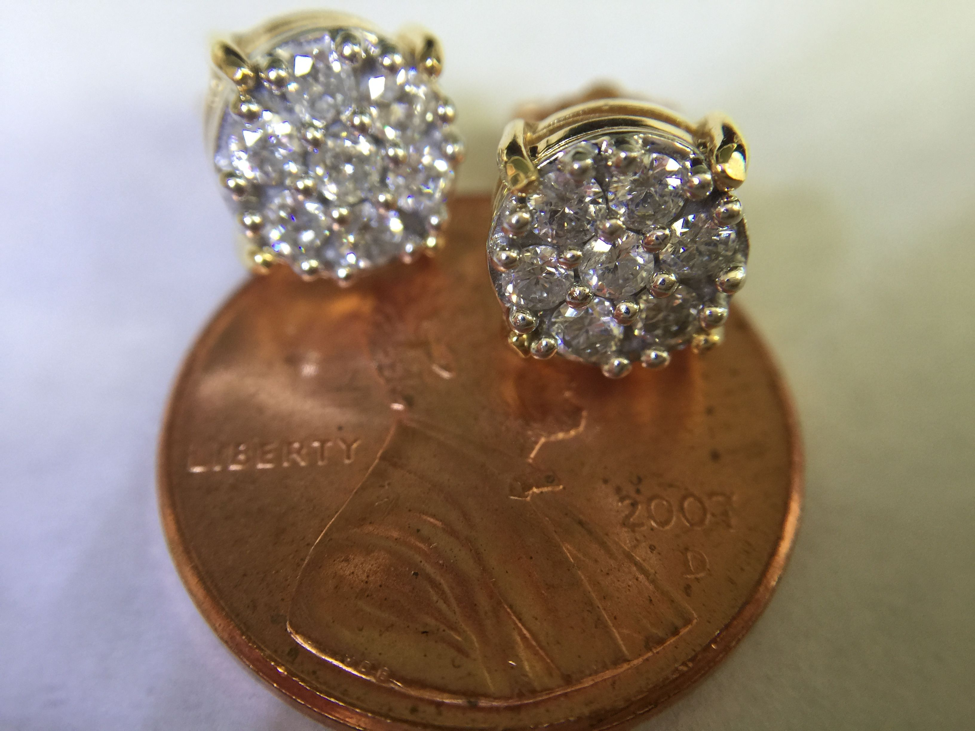 diamond stones earrings affinity qvc pin faceted cluster