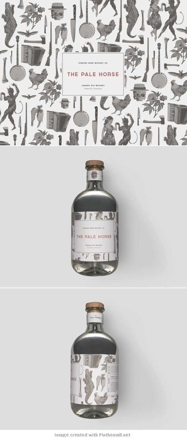 M :: Sinning Hand Whiskey #illustrated #packaging PD