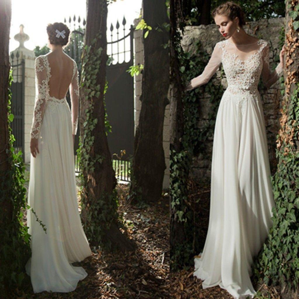 robe de mariée en mousseline et manches en dentelle | Mariage ...