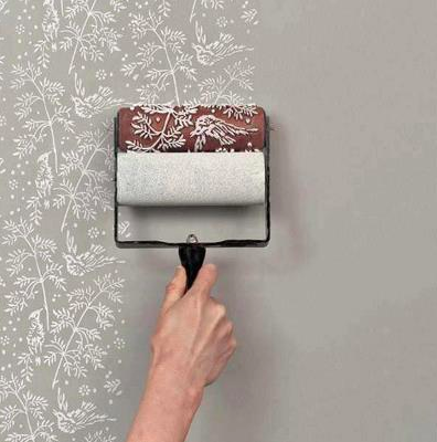 Patterned Paint Roller From The Painted House Each Design Roller Is Reusable And Interchangeable Patterned Paint Rollers Painting Patterns Classic Wallpaper