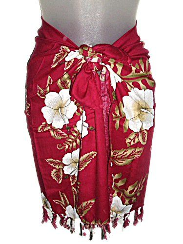 3c7c6d007d HAWAIIAN MAGENTA HIBISCUS KEIKI GIRLS TALL / PRE-TEEN SHORT SARONG ...