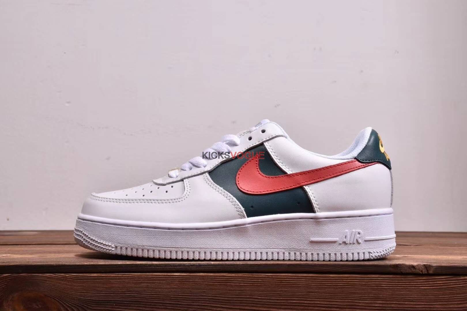 Custom Gucci x Nike Air Force 1 Low Red and Green Stripes