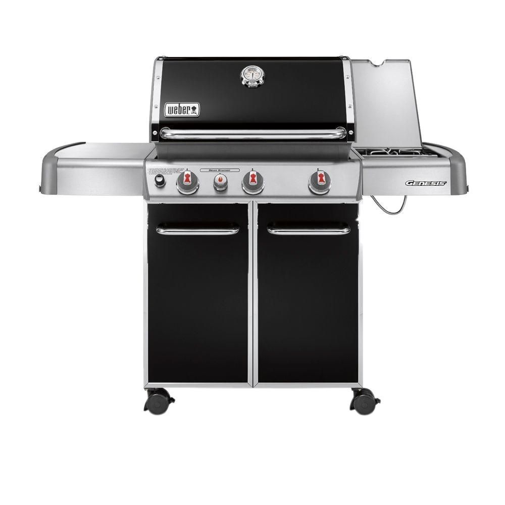 Weber Genesis E 330 3 Burner Propane Gas Grill In Copper 6532001 The Home Depot Best Gas Grills Gas Grill Natural Gas Grill