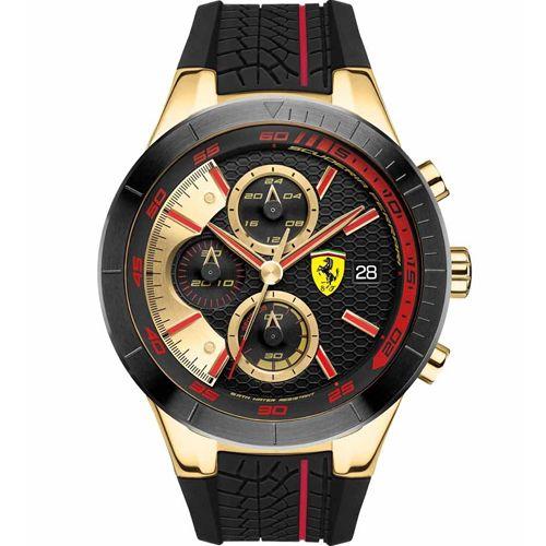 d765de92b6c Relógio Scuderia Ferrari Masculino Borracha Preta - 830298 ...